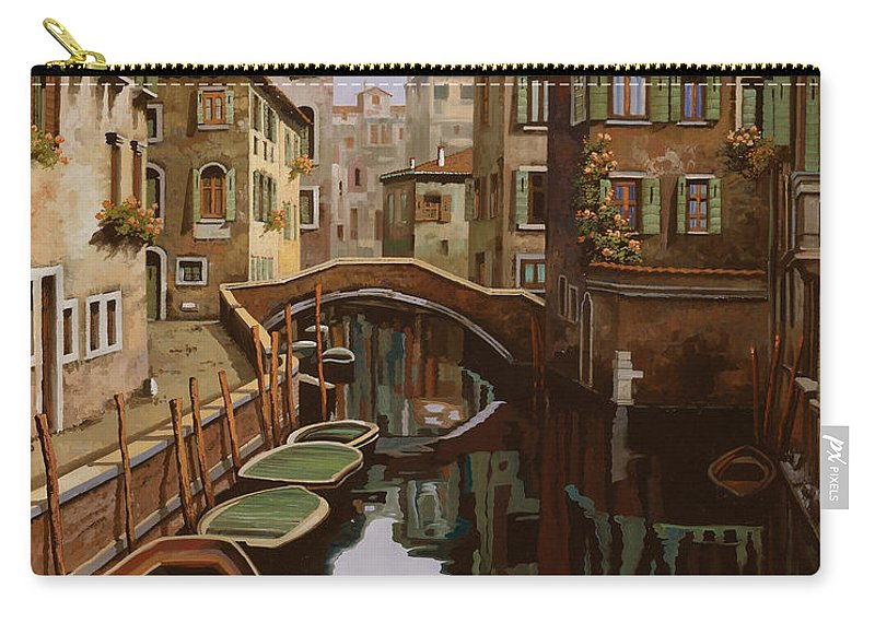 Venice Carry-all Pouch featuring the painting Riflesso Scuro by Guido Borelli