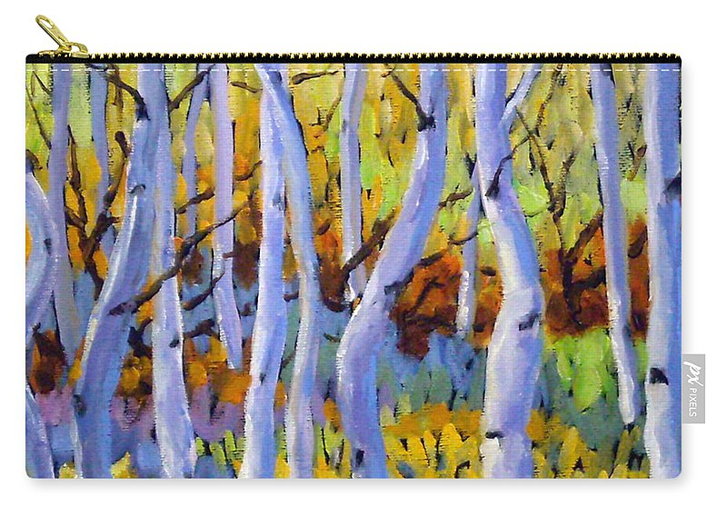Art Carry-all Pouch featuring the painting Rigaudon Of Aspens by Richard T Pranke