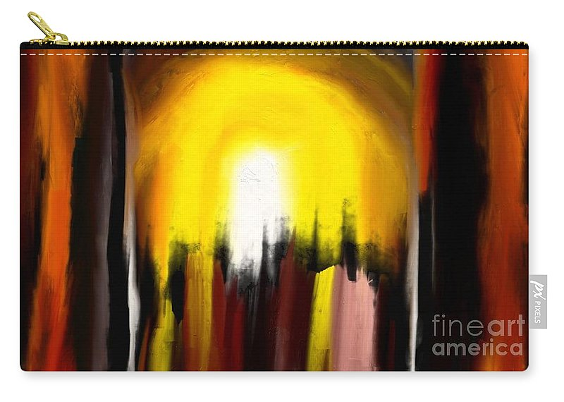 Digital Carry-all Pouch featuring the painting Right Way by Rushan Ruzaick