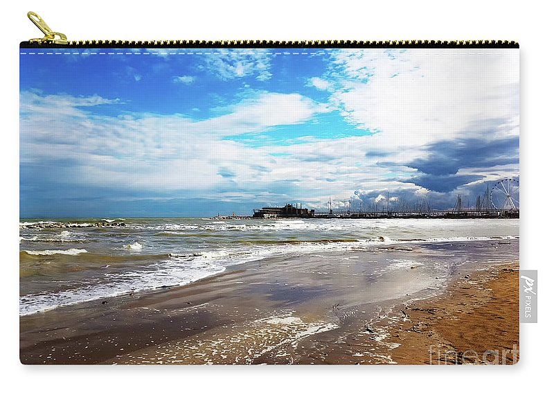 Rimini After The Storm By Marina Usmanskaya Carry-all Pouch featuring the photograph Rimini After The Storm by Marina Usmanskaya