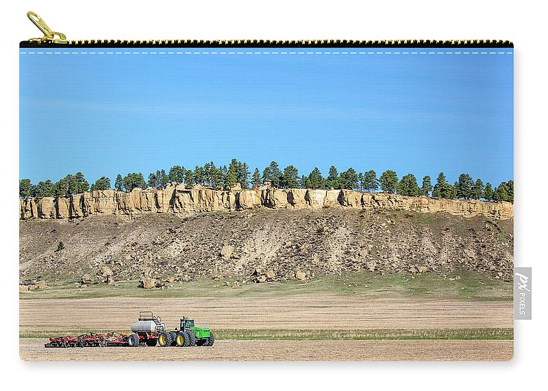 John Deere Carry-all Pouch featuring the photograph Rimrock Seeder by Todd Klassy