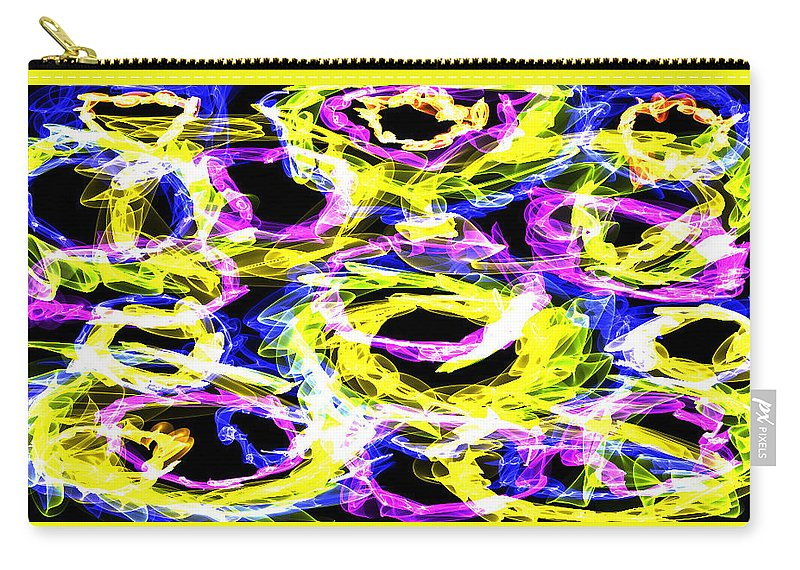 Rings Carry-all Pouch featuring the digital art Ring A Ling by Shirlena Rudder