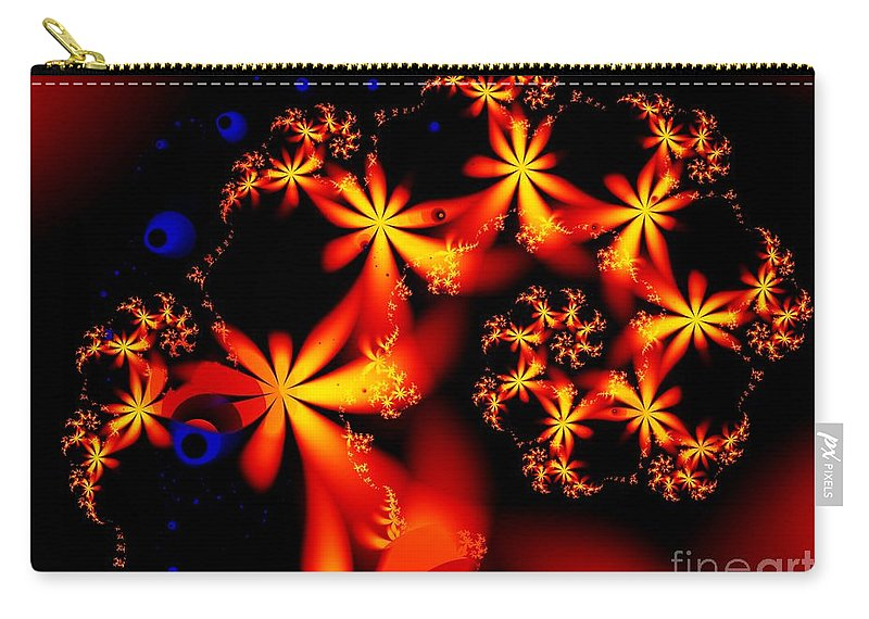 Flowers Carry-all Pouch featuring the digital art Ring Of Posies by Ron Bissett