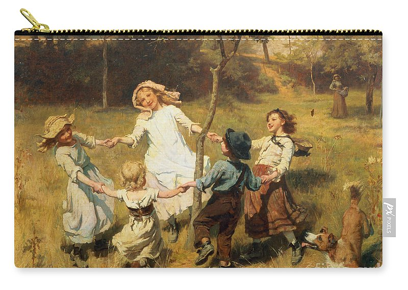 Frederick Morgan Carry-all Pouch featuring the painting Ring Of Roses by Frederick Morgan