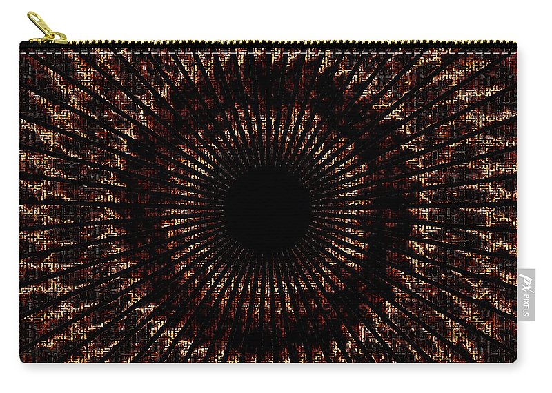 Fire Carry-all Pouch featuring the digital art Rings Of Fire by Charleen Treasures