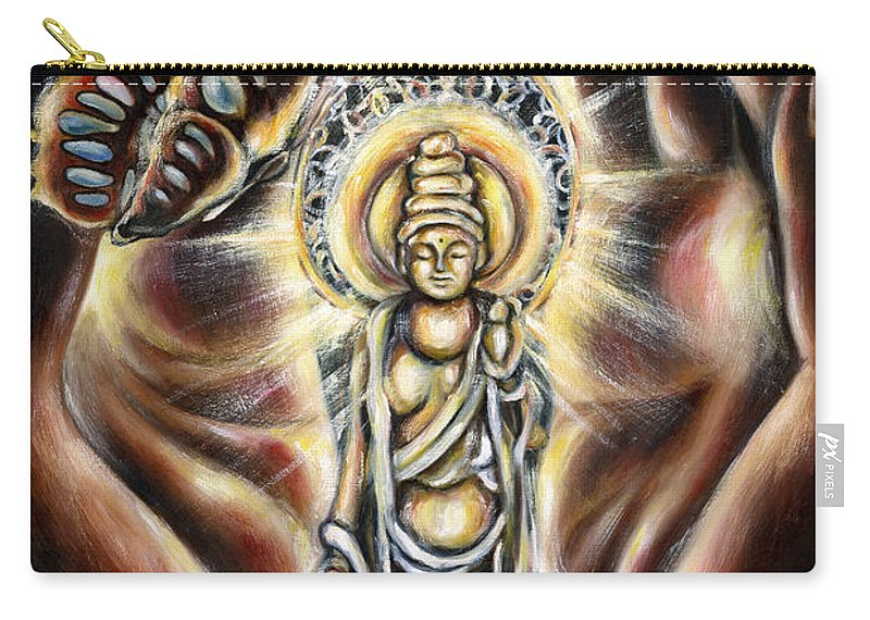 Butterfly Carry-all Pouch featuring the painting Rinne by Hiroko Sakai