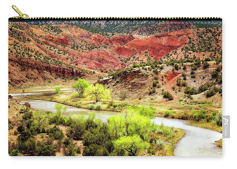 Chama River Carry-all Pouch featuring the photograph Rio Chama Overlook 2 by Diana Powell