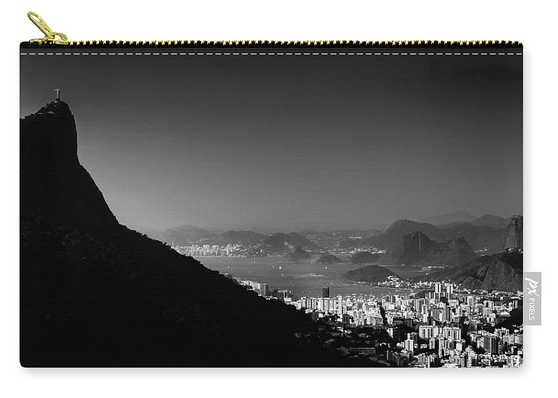 Horizon Carry-all Pouch featuring the photograph Rio De Janeiro, Brazil Panorama by Alexandre Rotenberg