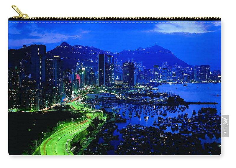 Rio De Janeiro Carry-all Pouch featuring the digital art Rio De Janeiro by Mery Moon
