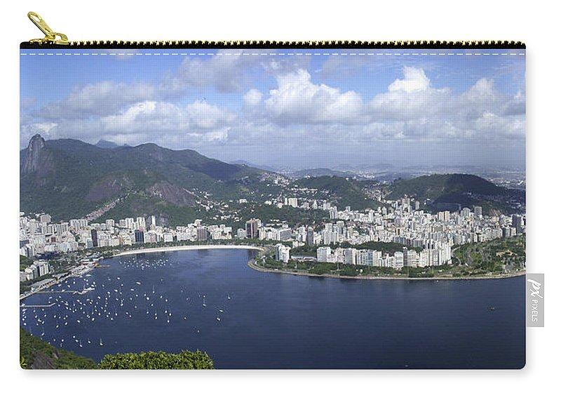 Rio De Janiero Carry-all Pouch featuring the photograph Rio De Janiero Aerial by Sandra Bronstein