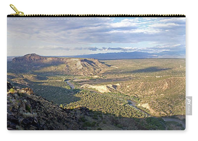 Rio Grand Carry-all Pouch featuring the photograph Rio Grand Near White Rock by Heather Coen