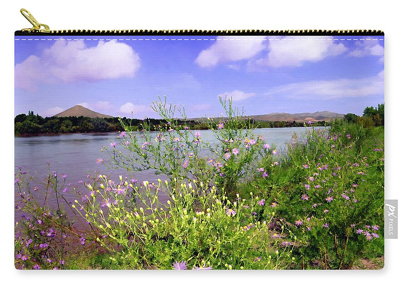 Rio Grande Carry-all Pouch featuring the photograph Rio Grande De Las Cruces by Kurt Van Wagner