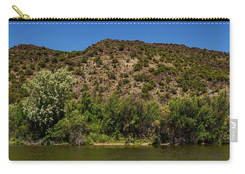 New Mexico Carry-all Pouch featuring the photograph Rio Grande Panorama Pilar New Mexico by Lawrence S Richardson Jr