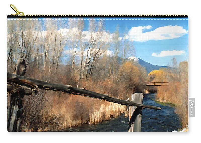 River Carry-all Pouch featuring the photograph Rio Pueblo by Kurt Van Wagner