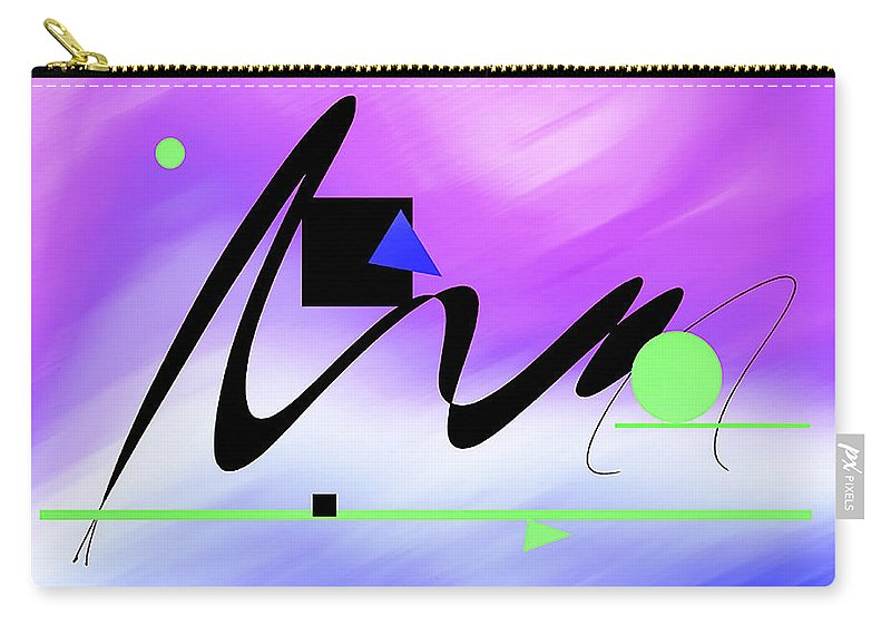 Abstract Carry-all Pouch featuring the digital art Riocentric by Roger Bester