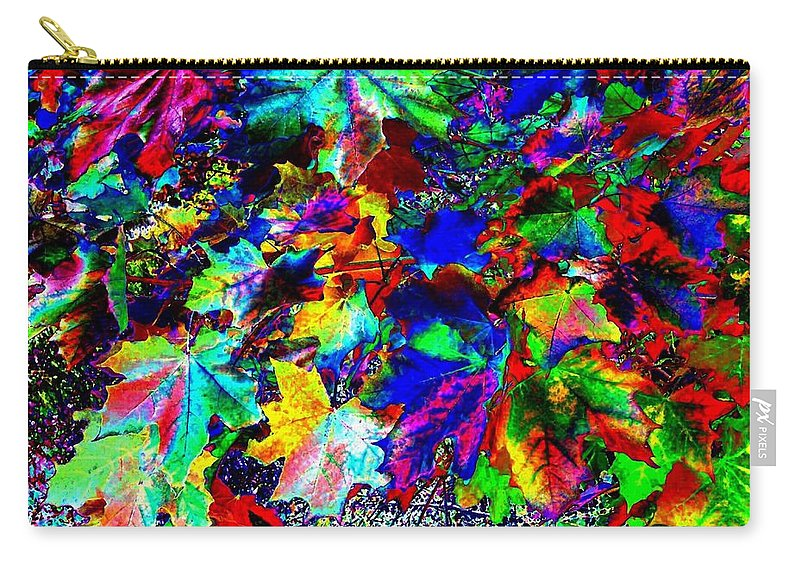 Maple Leaves Carry-all Pouch featuring the digital art Riot Of Color by Will Borden