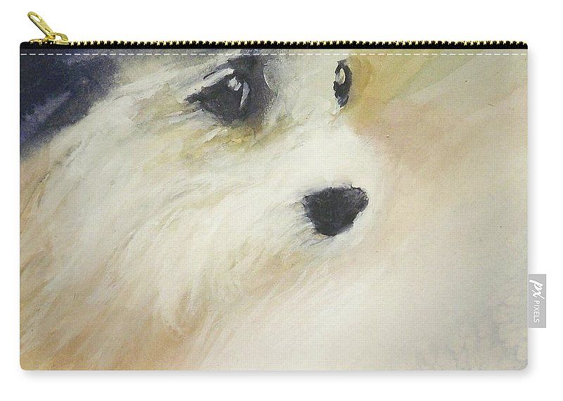 Animals Outdoors Nature Wildlife Carry-all Pouch featuring the painting rip by Ed Heaton