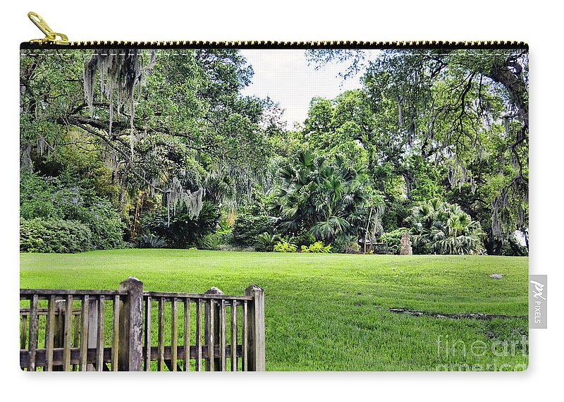 Landscape Carry-all Pouch featuring the photograph Rip Van Winkle Gardens Louisiana by Chuck Kuhn