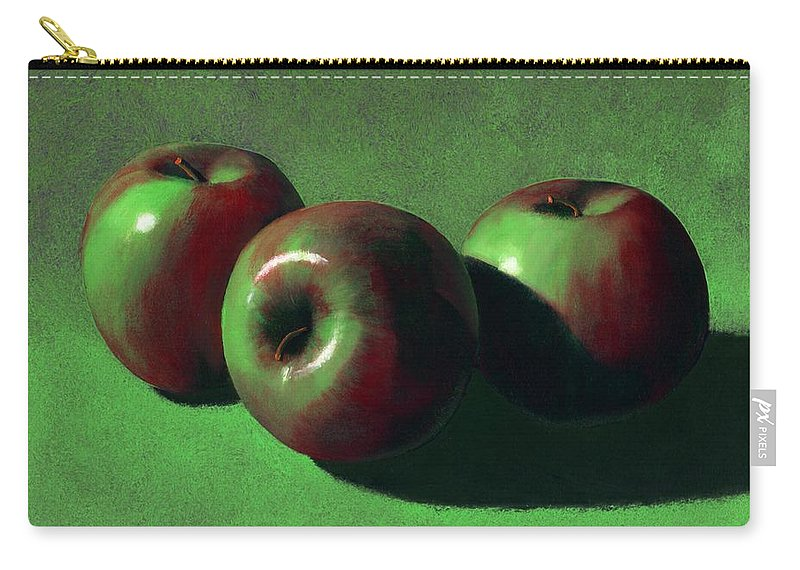 Still Life Carry-all Pouch featuring the painting Ripe Apples by Frank Wilson