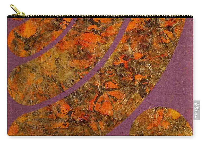 Abstract Paintings Carry-all Pouch featuring the painting Ripple by James Hamilton