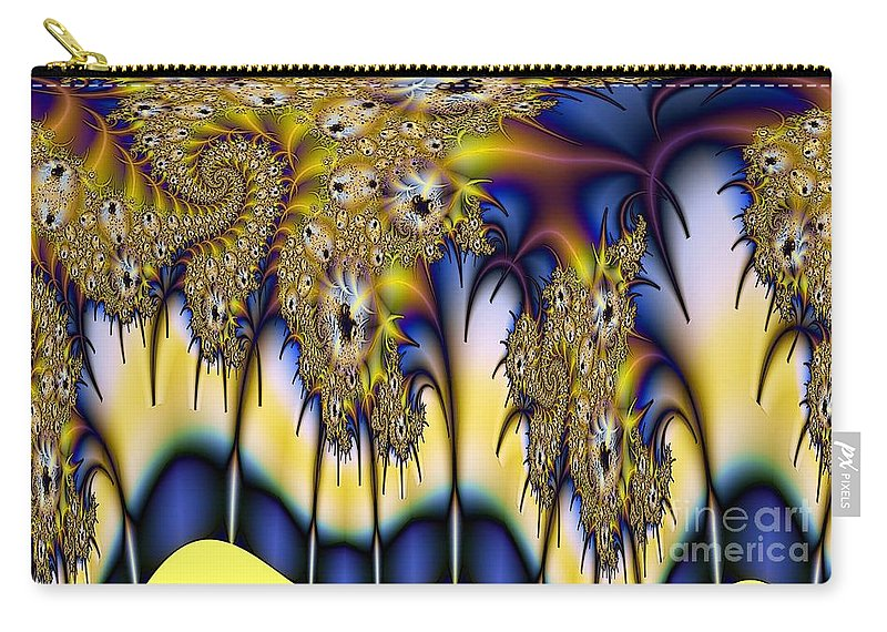 Fractal Carry-all Pouch featuring the digital art Ripple by Ron Bissett