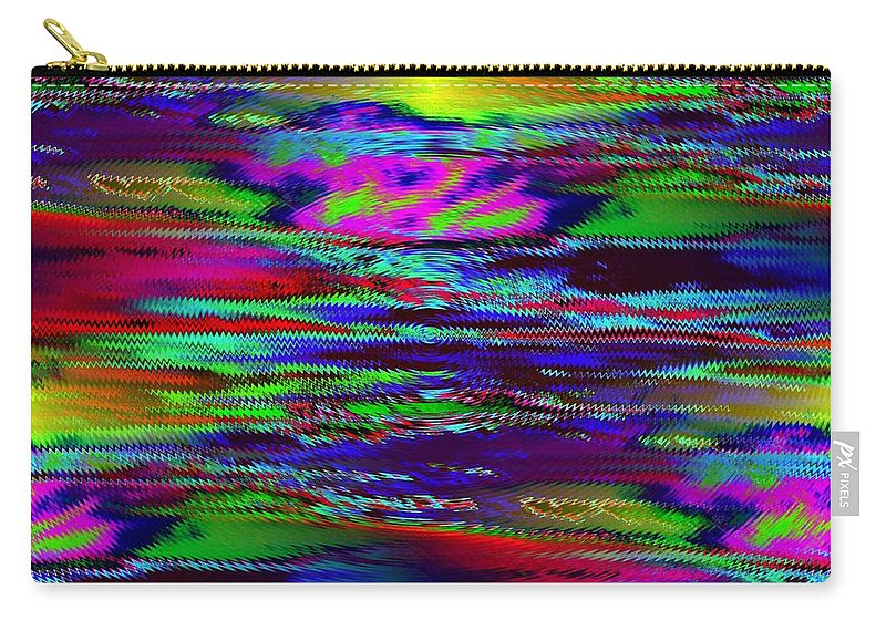 Sunset Carry-all Pouch featuring the photograph Ripple Sunset by Tim Allen