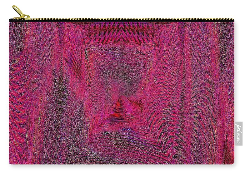 Abstract Carry-all Pouch featuring the digital art Ripples In Red by Tim Allen