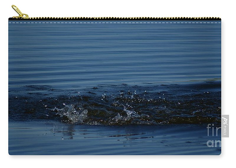 Waves Ripples In Lake Carry-all Pouch featuring the photograph Ripples by Joanne Smoley