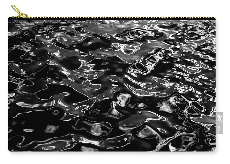 Black And White Carry-all Pouch featuring the photograph Ripples by Peter Piatt