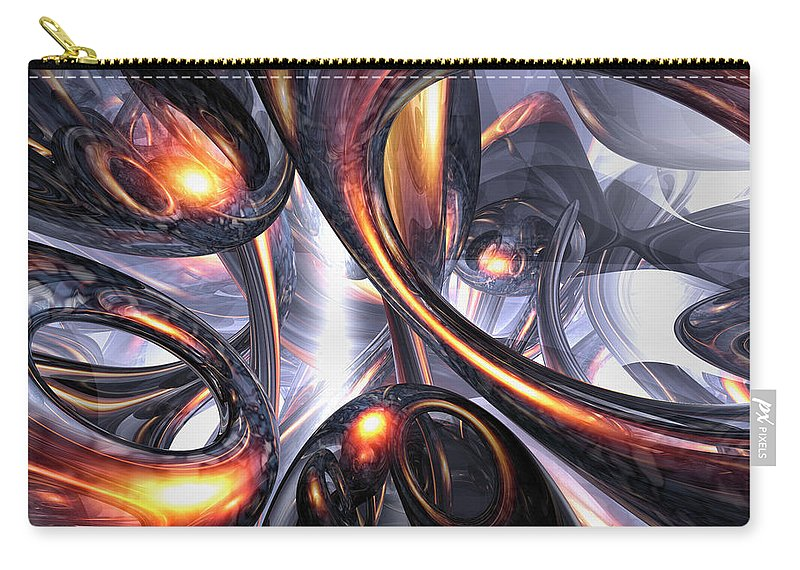 3d Carry-all Pouch featuring the digital art Rippling Fantasy Abstract by Alexander Butler