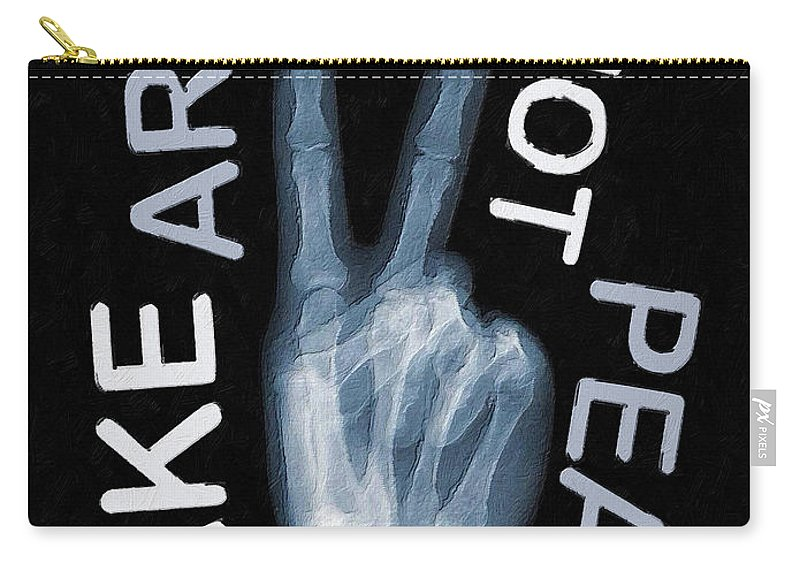 Art Carry-all Pouch featuring the mixed media Rise Peace by Tony Rubino