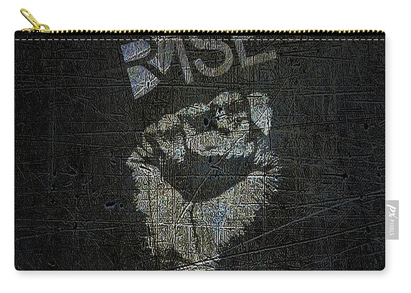 Art Carry-all Pouch featuring the mixed media Rise Power by Tony Rubino