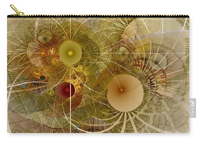 Abstract Carry-all Pouch featuring the digital art Rising Spring - Fractal Art by NirvanaBlues