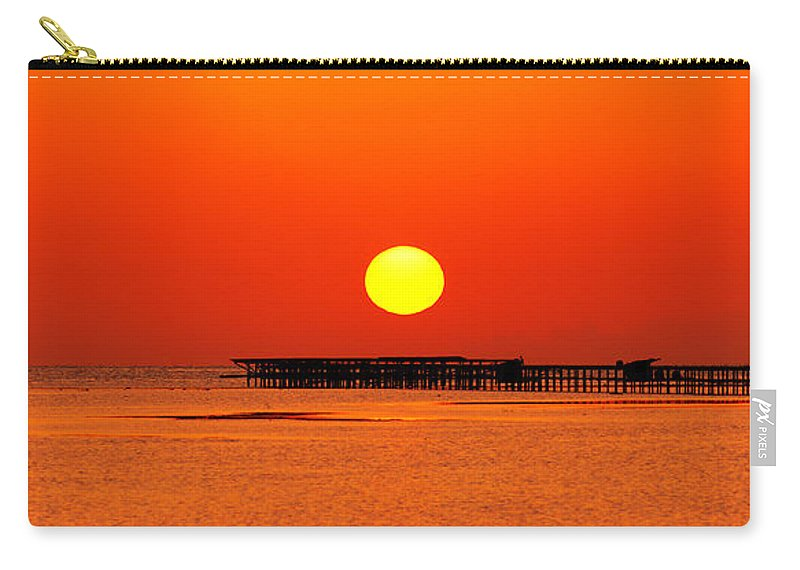Sunrise Carry-all Pouch featuring the photograph Rising Sun In Nabq Bay by Sun Travels