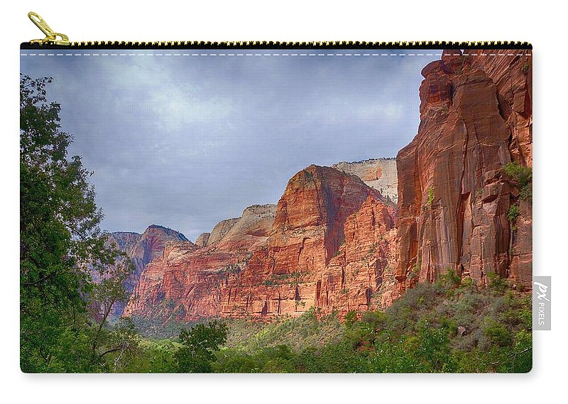 Ann Keisling Carry-all Pouch featuring the photograph Rising Up by Ann Keisling