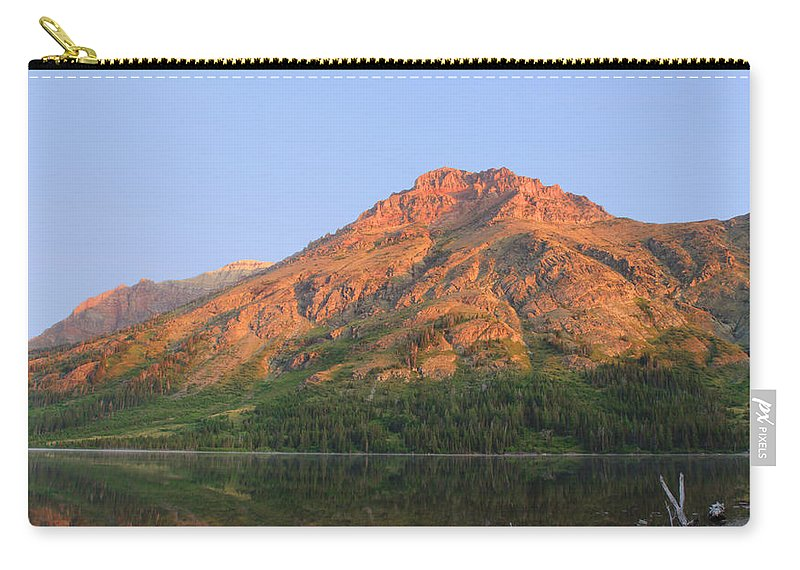 Mountain Carry-all Pouch featuring the photograph Rising Wolf Mountain At Dawn by Shari Jardina