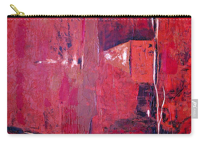Abstract Carry-all Pouch featuring the painting Risky Business by Ruth Palmer