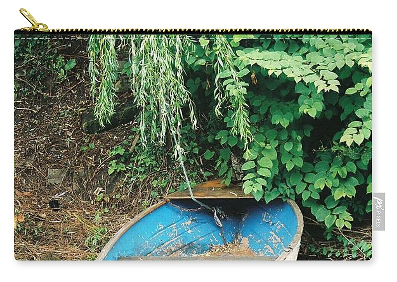 Boat Carry-all Pouch featuring the photograph River Avon Boat by Lauri Novak