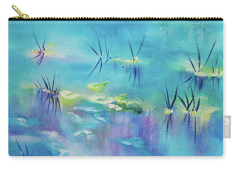Glass Isle Series Carry-all Pouch featuring the painting River by Dechen ART