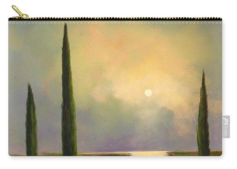 Trees Carry-all Pouch featuring the painting River Dreams by Toni Grote