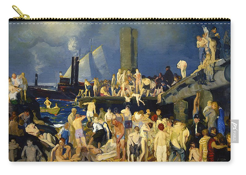 River Front Carry-all Pouch featuring the photograph River Front by George Bellows