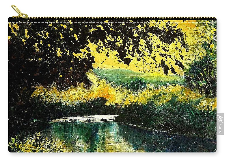 River Carry-all Pouch featuring the painting River Houille by Pol Ledent