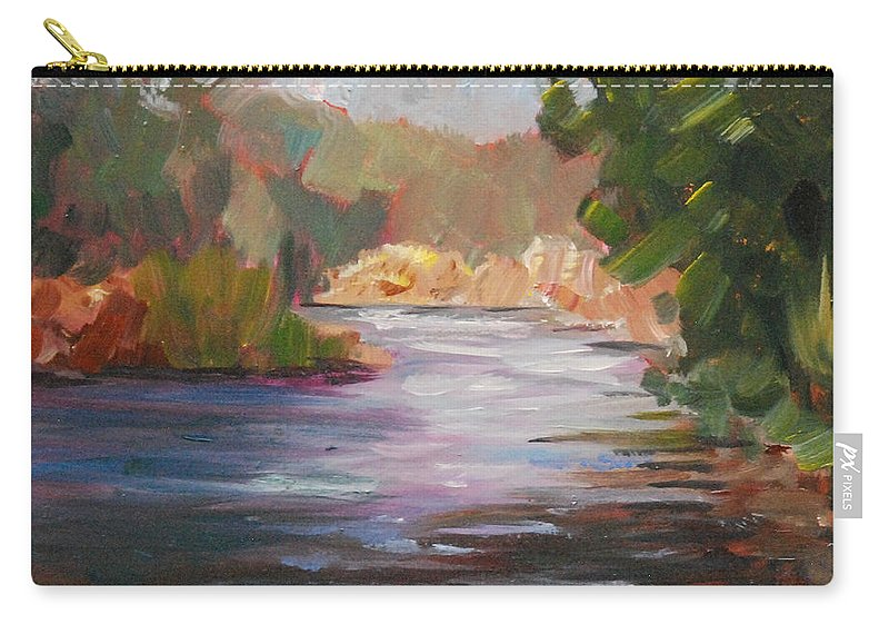 Plein Air Carry-all Pouch featuring the painting River Light by Mary Benke