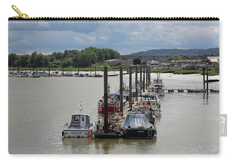 River Carry-all Pouch featuring the photograph River Medway by Zahra Majid
