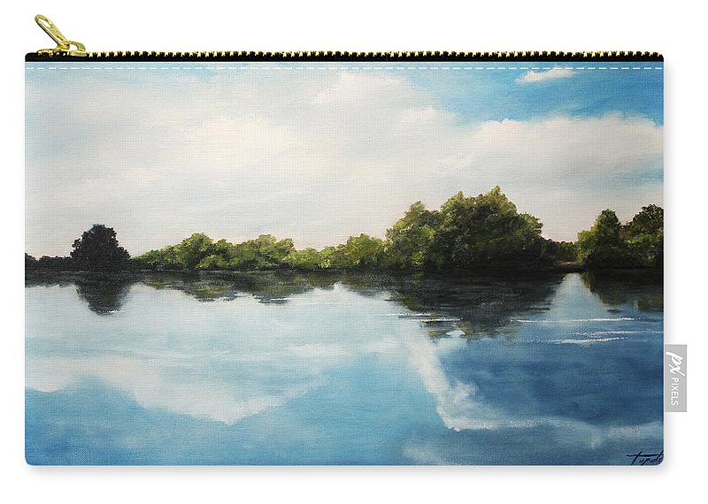 Landscape Carry-all Pouch featuring the painting River of Dreams by Darko Topalski