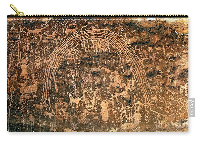 Petroglyphs Carry-all Pouch featuring the photograph River Of Dreams by David Lee Thompson