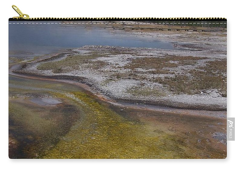 Geyser Carry-all Pouch featuring the photograph River Of Gold by Gale Cochran-Smith