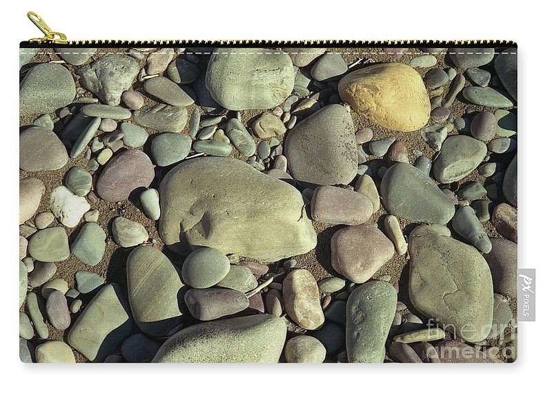 River Rock Carry-all Pouch featuring the photograph River Rock by Richard Rizzo