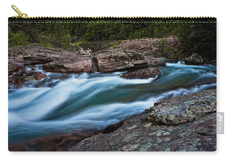 Nature Carry-all Pouch featuring the photograph River Rocks by John K Sampson