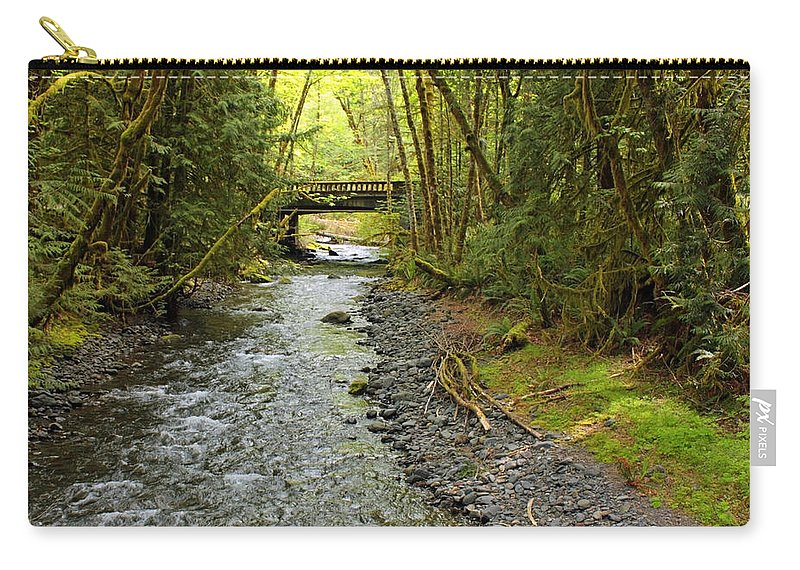 Landscape Carry-all Pouch featuring the photograph River Through The Rainforest by Carol Groenen